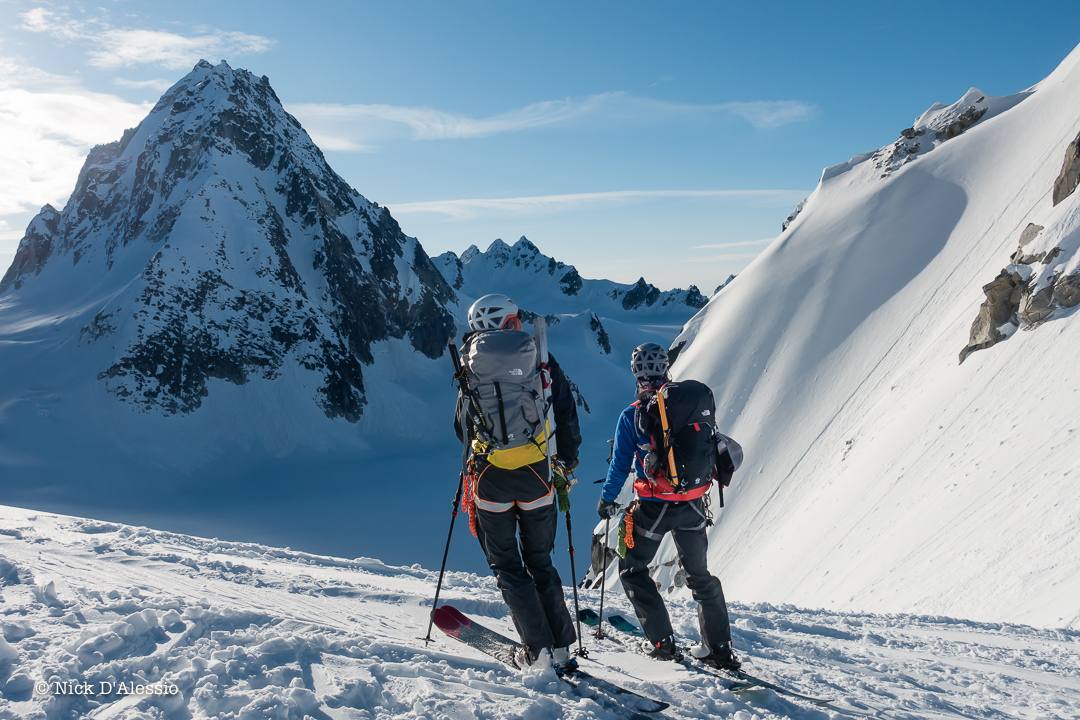 Morning light and mountains make for epic views while guiding in Alaska.