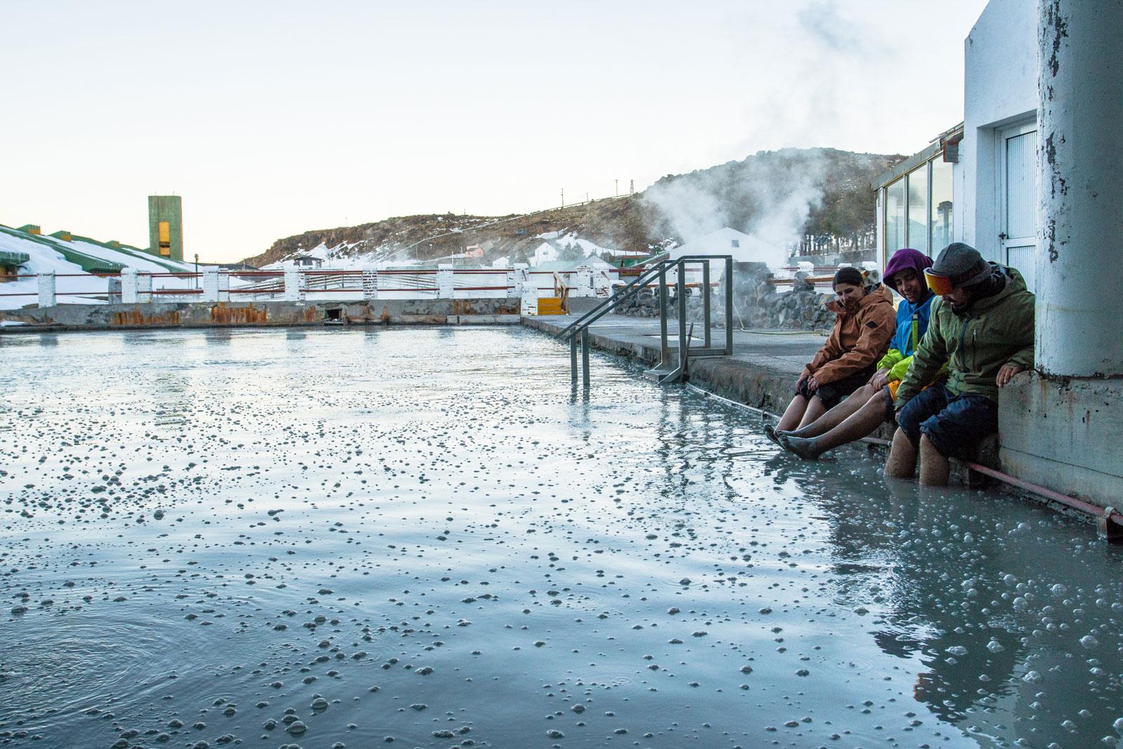 Mud bath hot spring. Photo Courtesy: Ben Girardi - Adventure in Argentina
