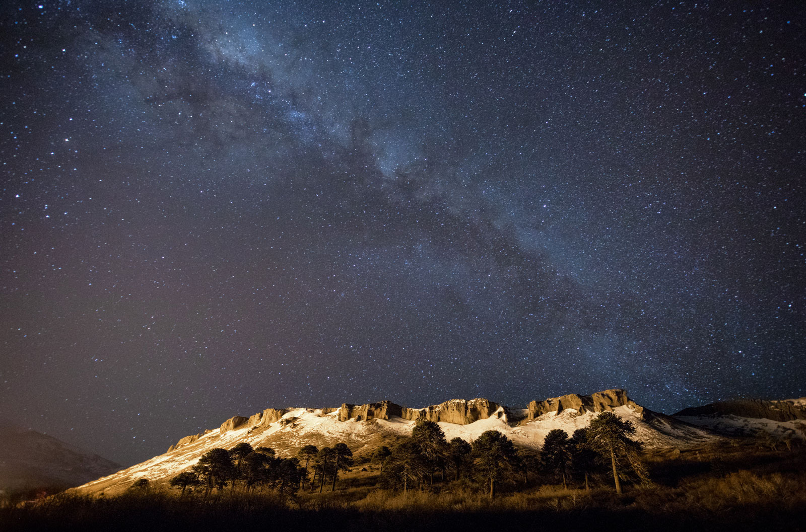 The Milky Way above some really cool terrain that we did not ride. Photo Courtesy: Ben Girardi - Adventure in Argentina