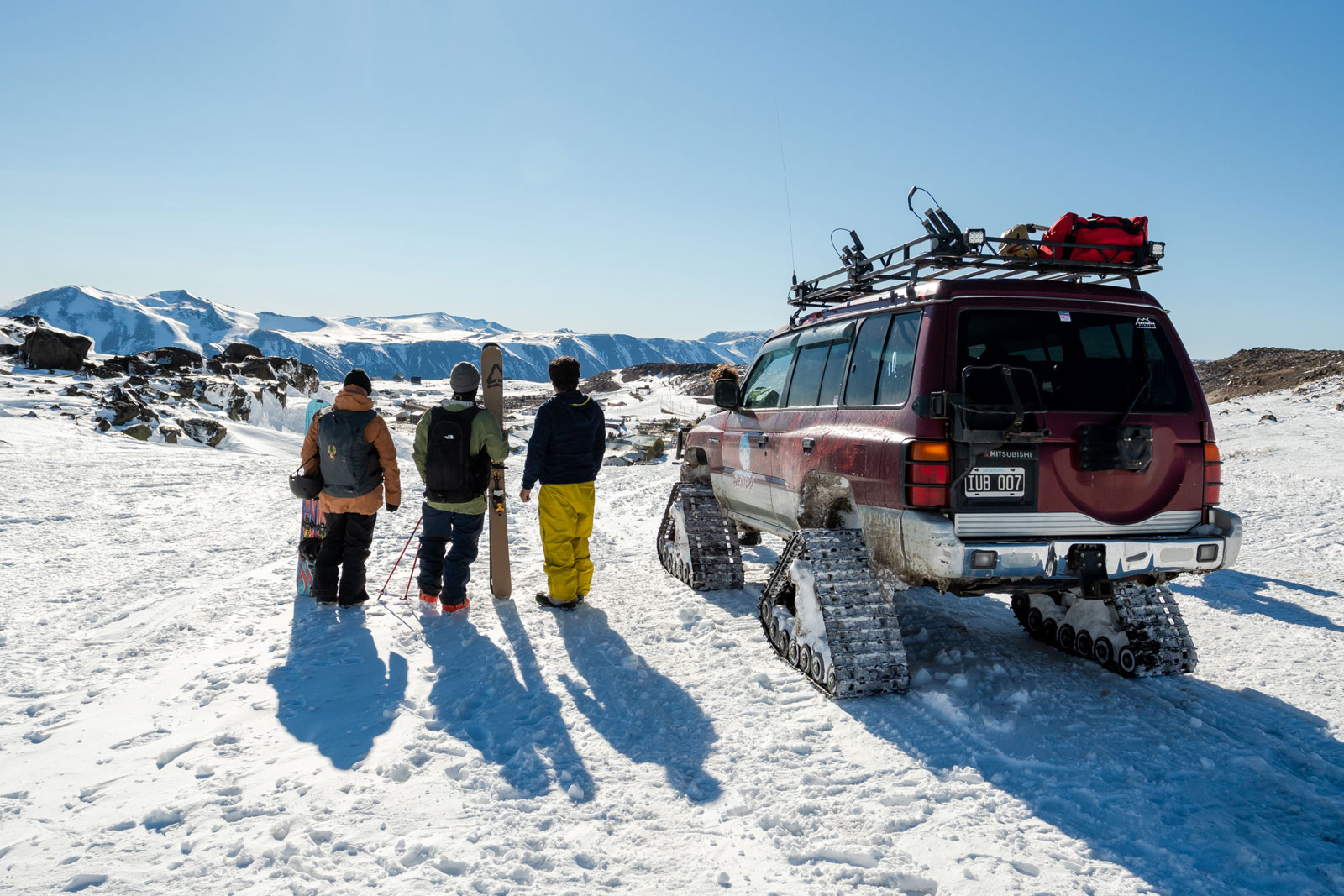 Getting dropped off in Copahue. Photo Courtesy: Ben Girardi - Adventure in Argentina