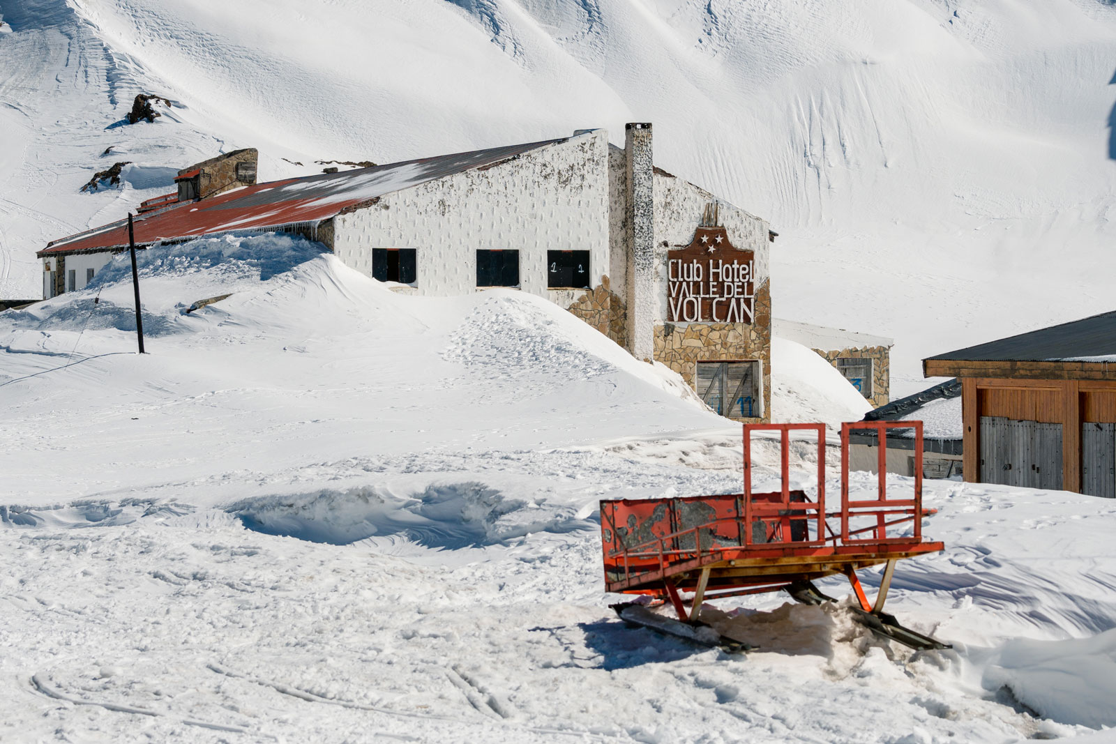 The Town of Copahue is dormant in the winter. Photo Courtesy: Ben Girardi - Adventure in Argentina