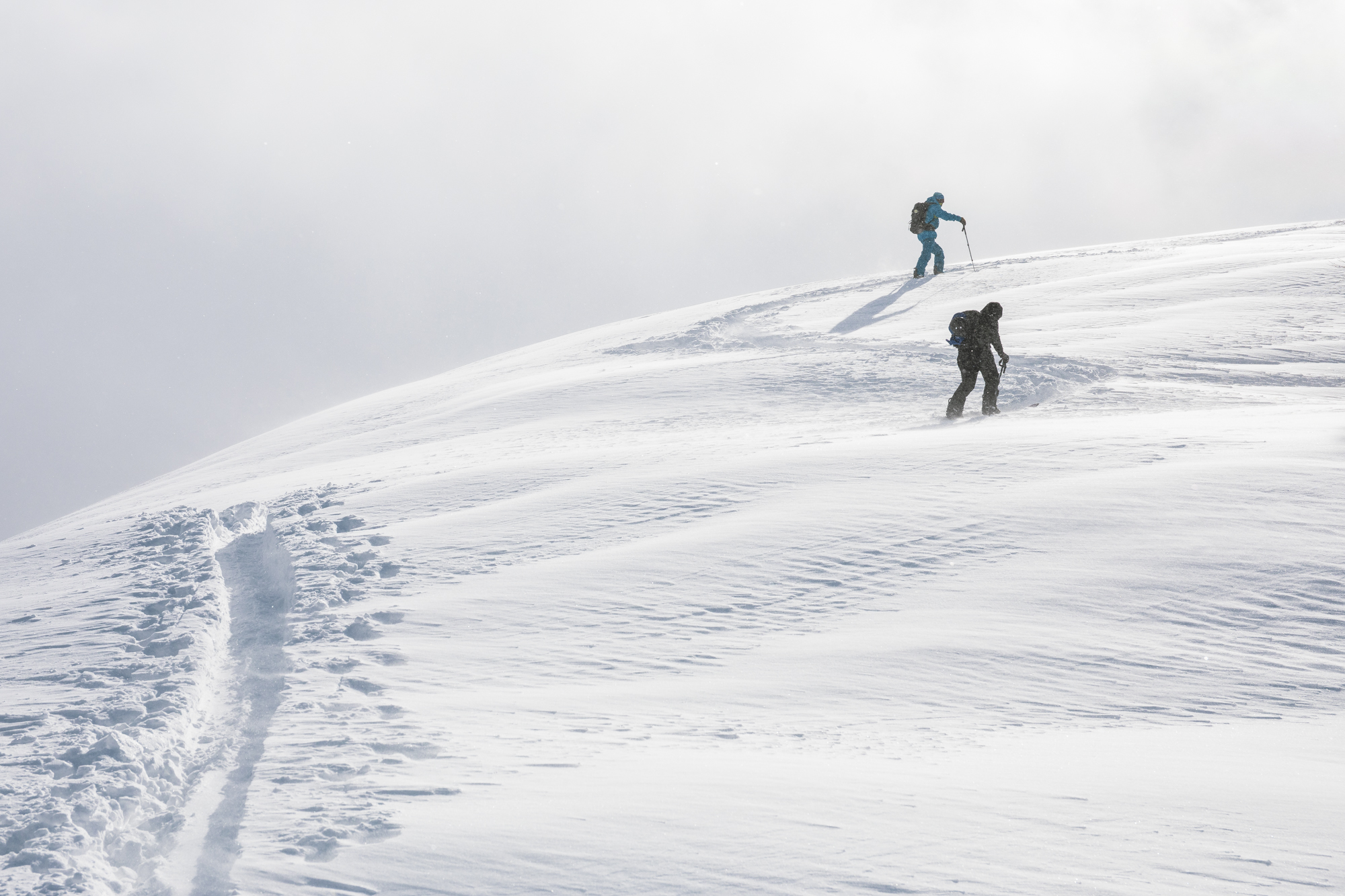 Skinning up to new zones in Japan backcountry. Photo by Ben Girardi.