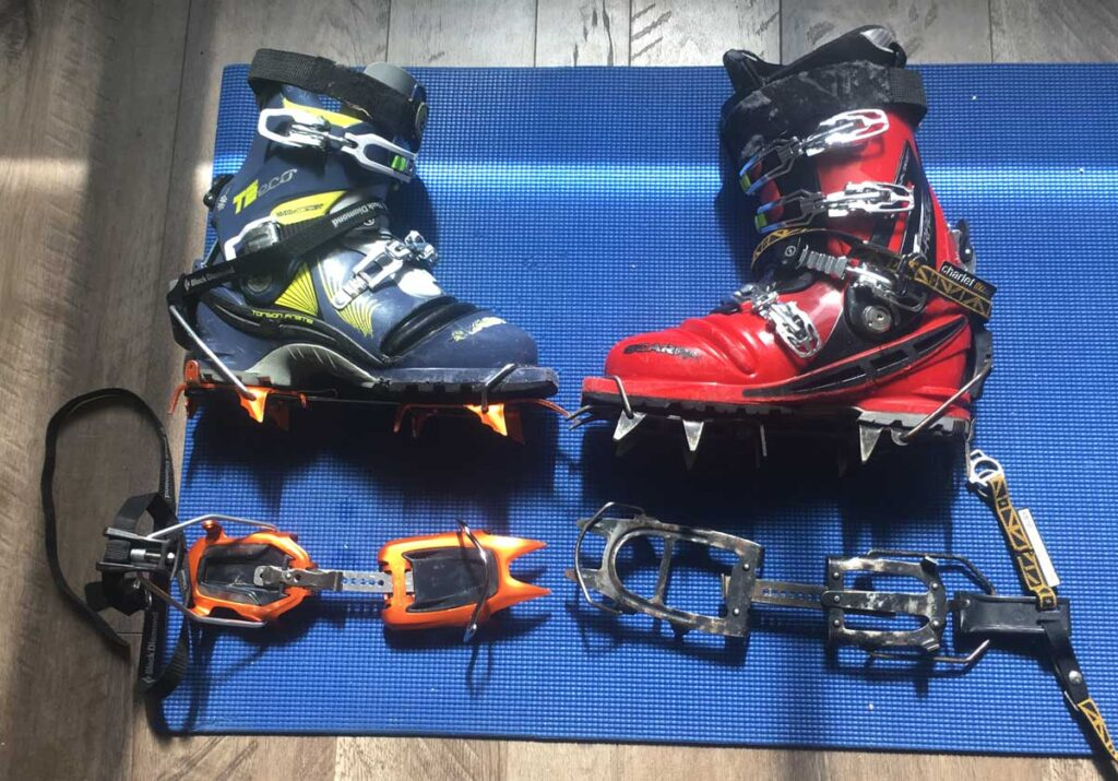 Telemark-Ski-Mountaineer-75mm-boot-and-crampon-options