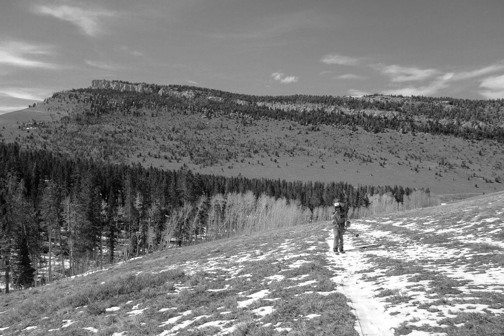 Exploring the Greater Yellowstone Area via Splitboard approach zach bw