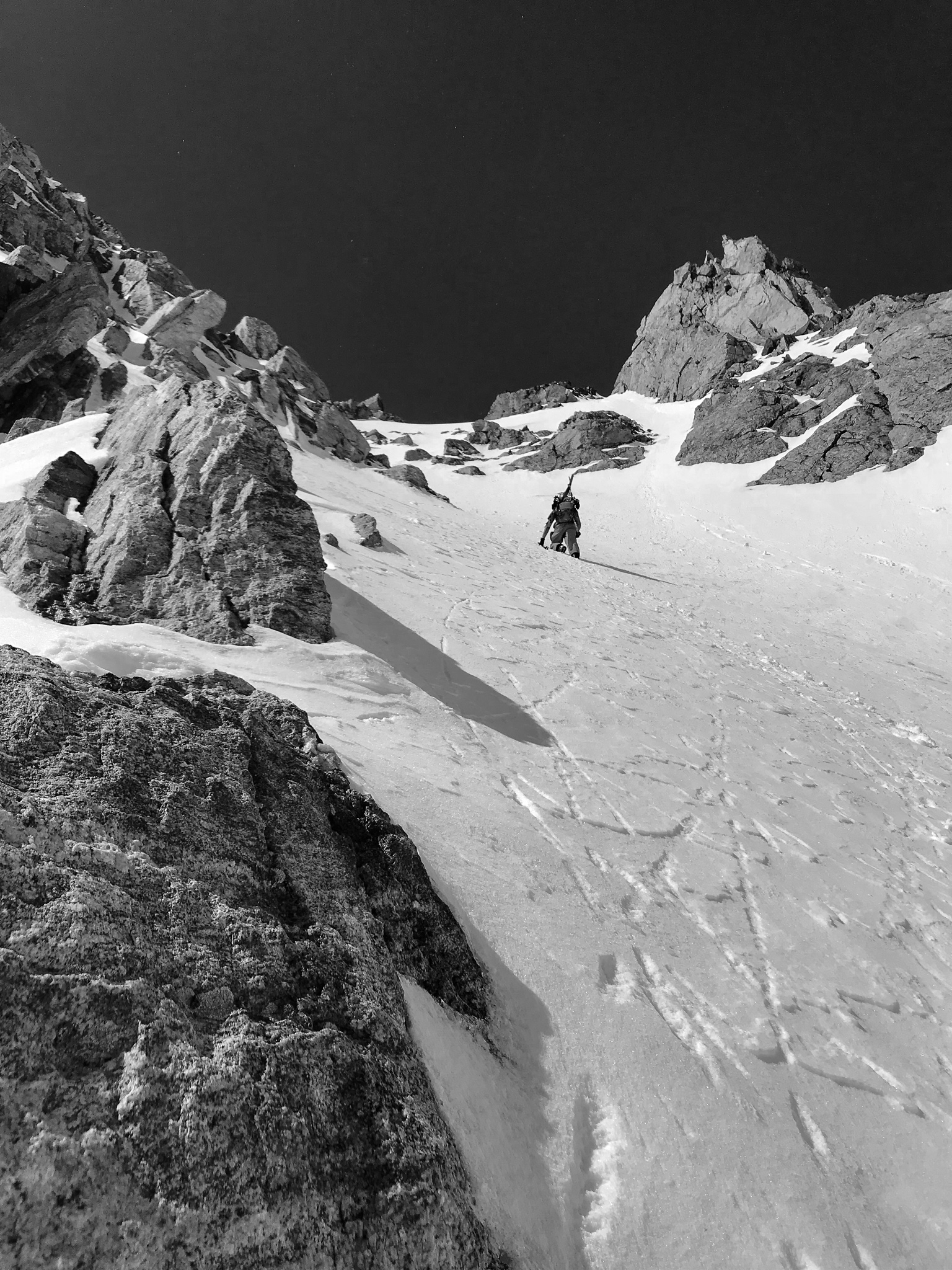 Exploring the Greater Yellowstone Area via Splitboard water Zach booting