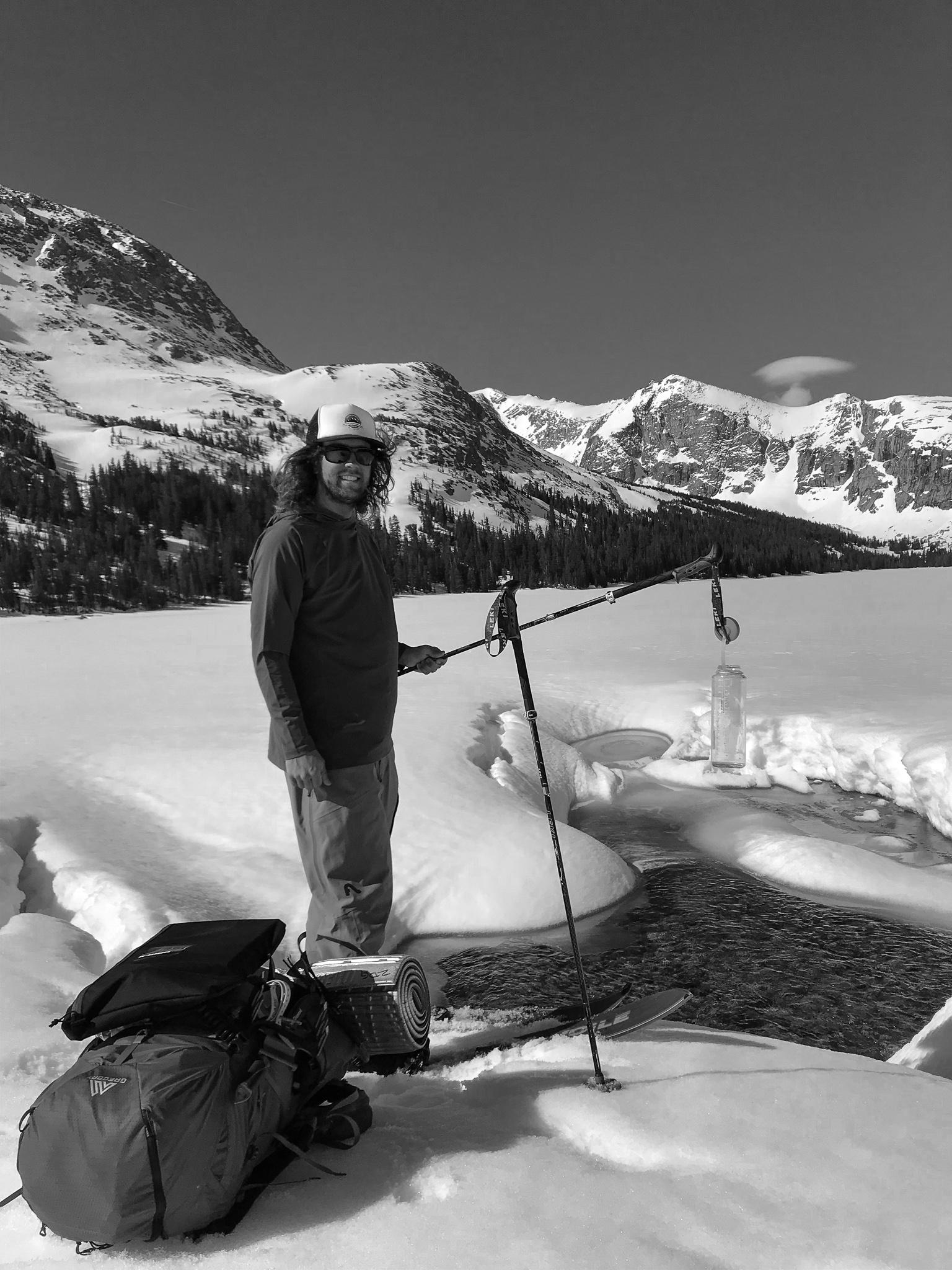Exploring the Greater Yellowstone Area via Splitboard water filling