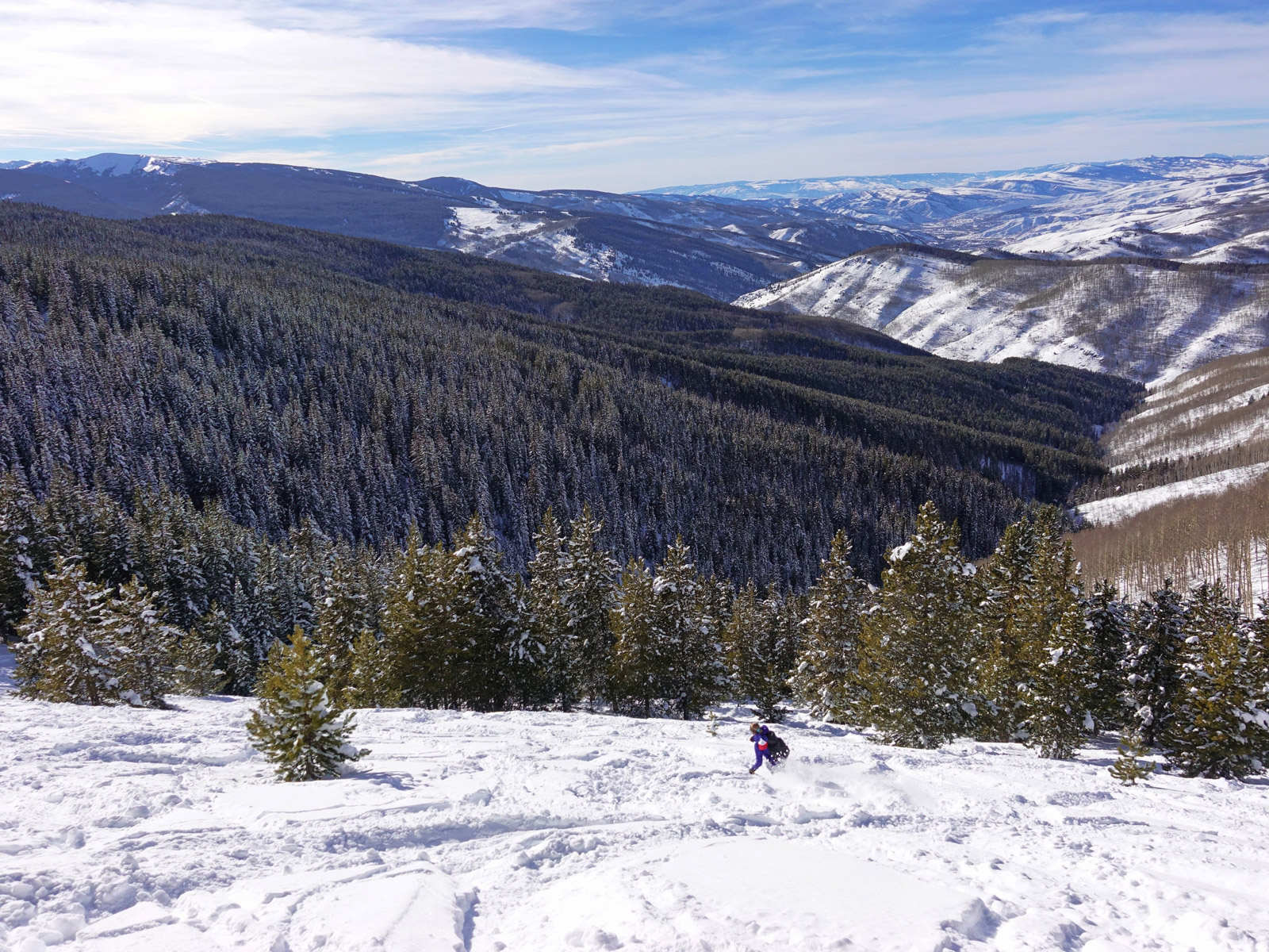 Skiing the valley