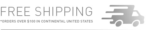 Free Shipping on Orders Over $100 in Continental United States