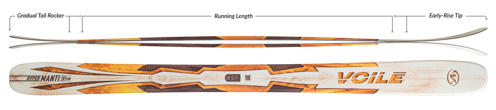 Voile Hyper Manti Skis Camber Profile