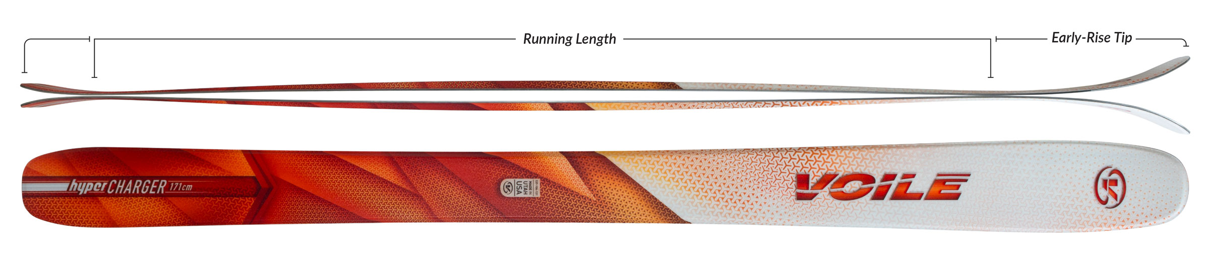 Voile HyperCharger Skis Camber Profile