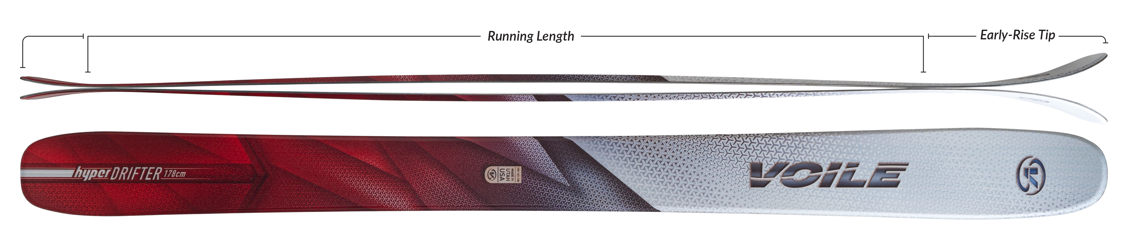 Voile HyperDrifter Skis Camber Profile