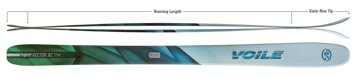 Voile HyperVector BC Skis Camber Profile