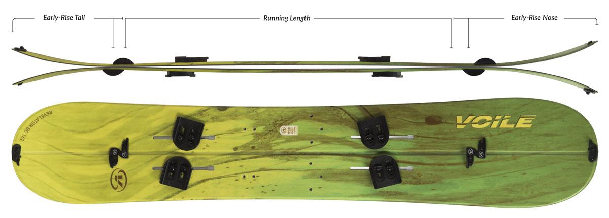 Voile Revelator BC Splitboard Camber Profile