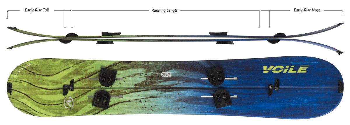 Voile Revelator Splitboard Camber Profile