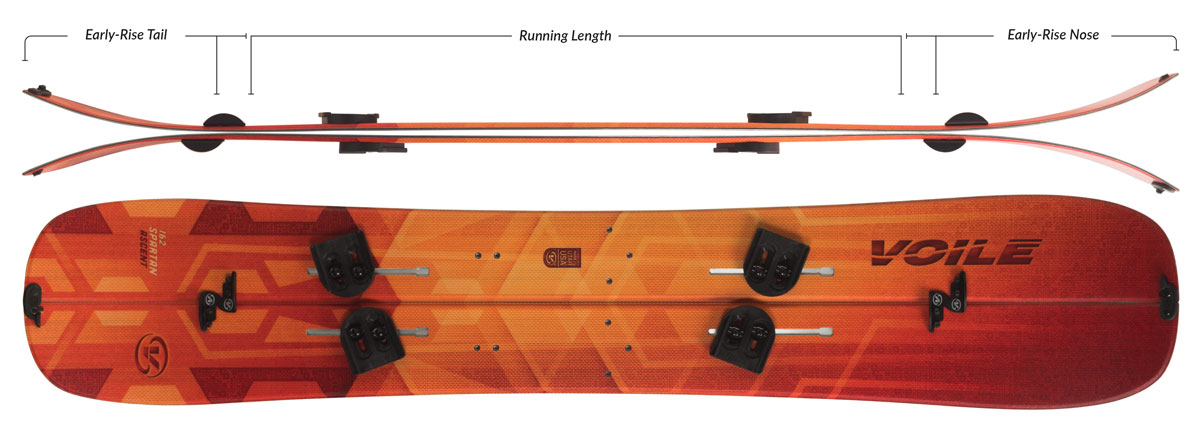 Voile Spartan Ascent Splitboard Camber Profile