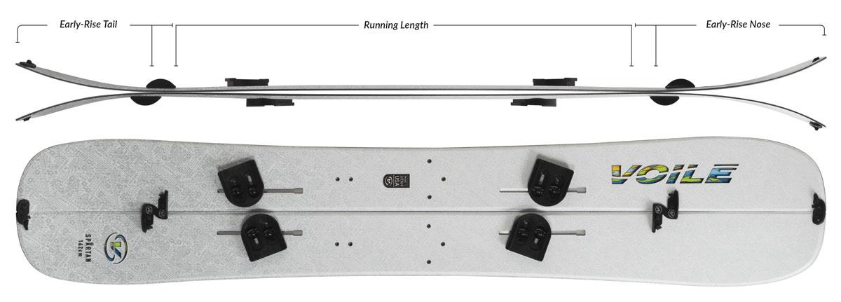 Voile Spartan Splitboard Camber Profile