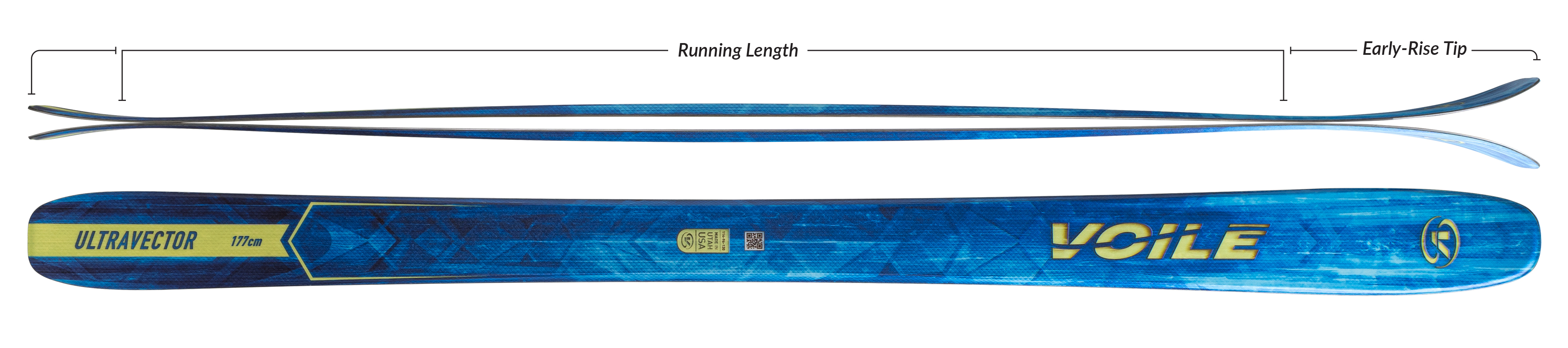 Voile UltraVector Skis Camber Profile