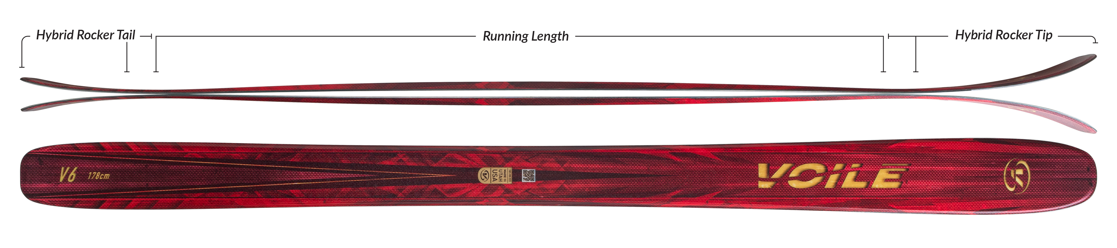Voile V6 Skis Camber Profile