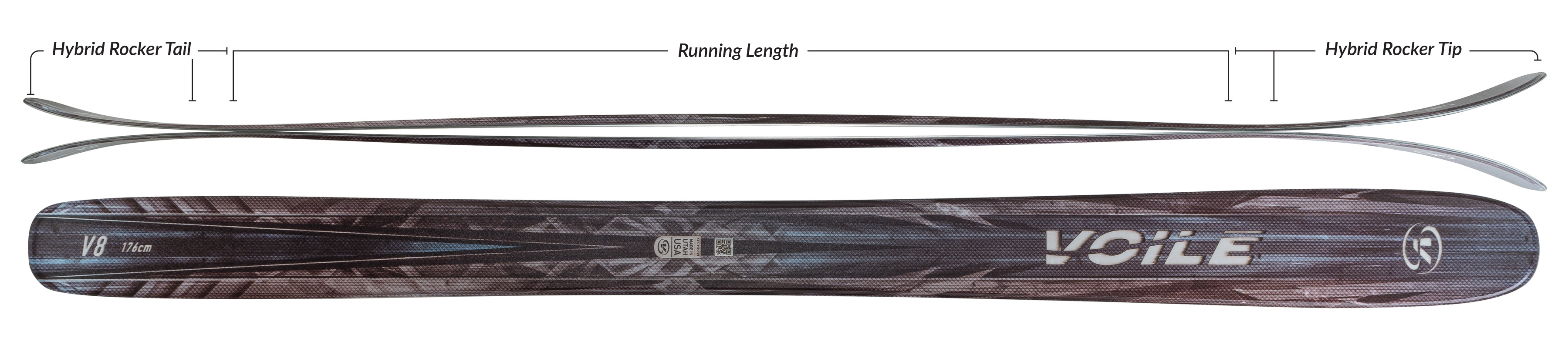 Voile V8 Skis Camber Profile