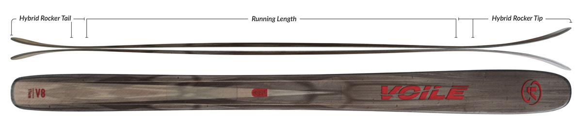 Voile V8 Skis - 165cm Camber Profile