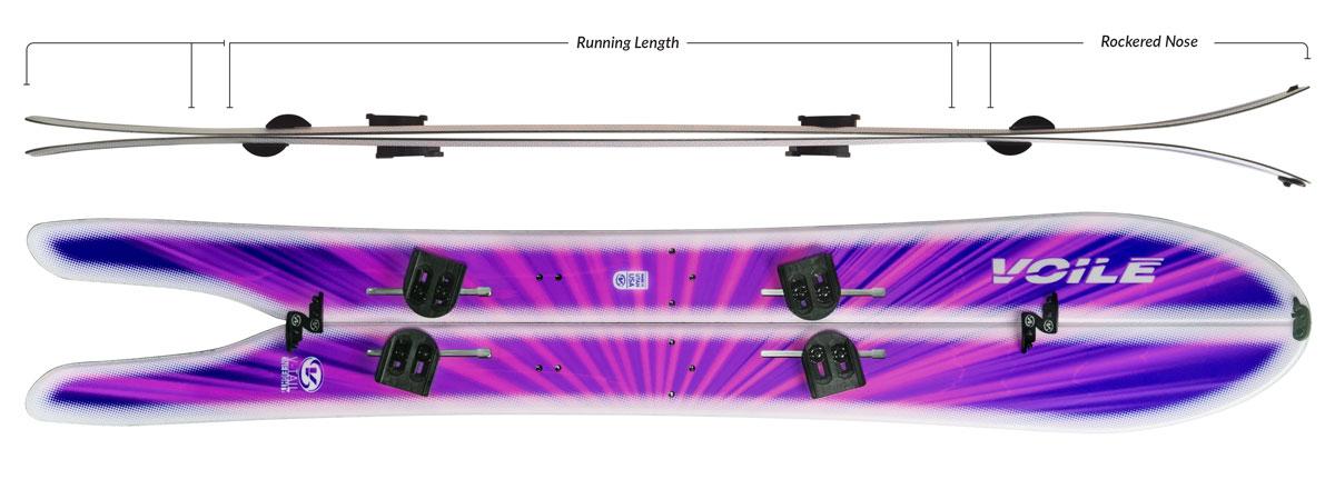 Voile V-Tail Splitboard Camber Profile