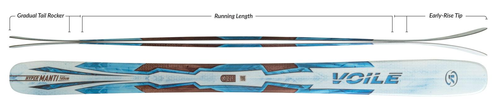 Voile Women's Hyper Manti Skis Camber Profile