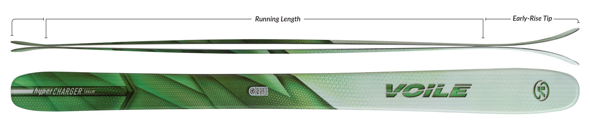 Voile Women's HyperCharger Skis Camber Profile