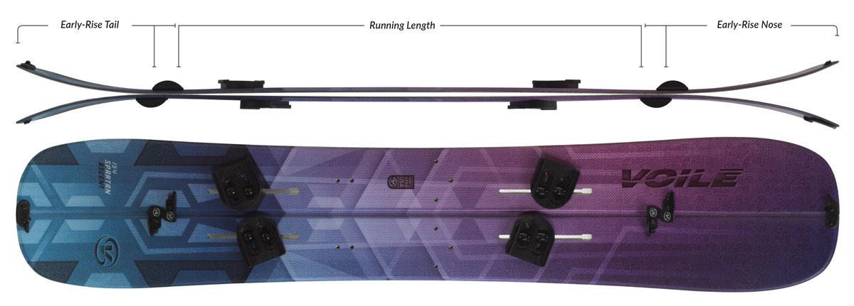 Voile Women's Spartan Ascent Splitboard Camber Profile