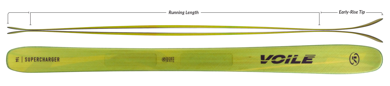Voile Women's SuperCharger Skis Camber Profile