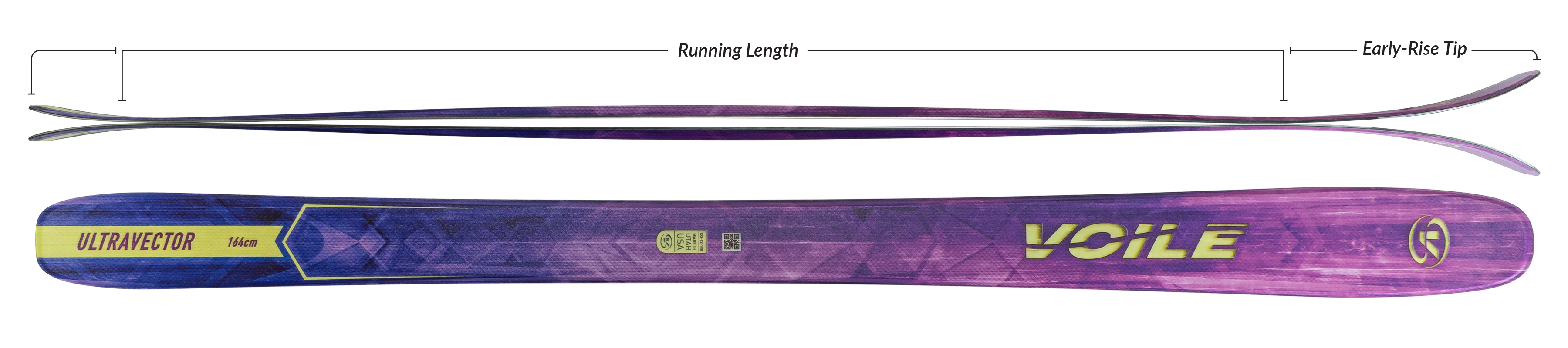 Voile Women's UltraVector Skis Camber Profile