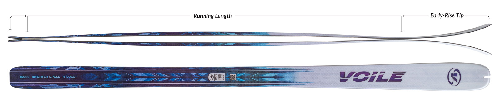 Voile Women's WSP Skis Camber Profile