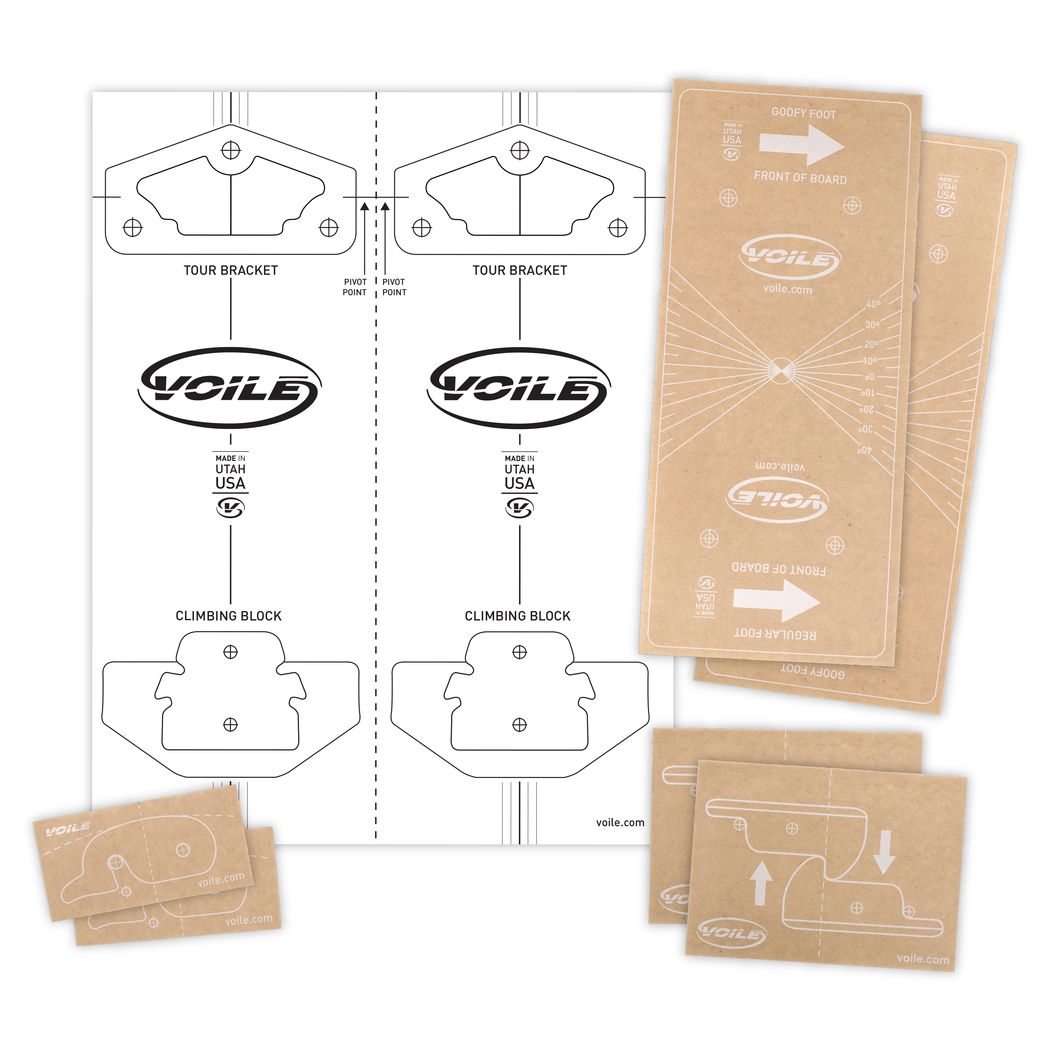 voile mounting template sticker pack diy voile